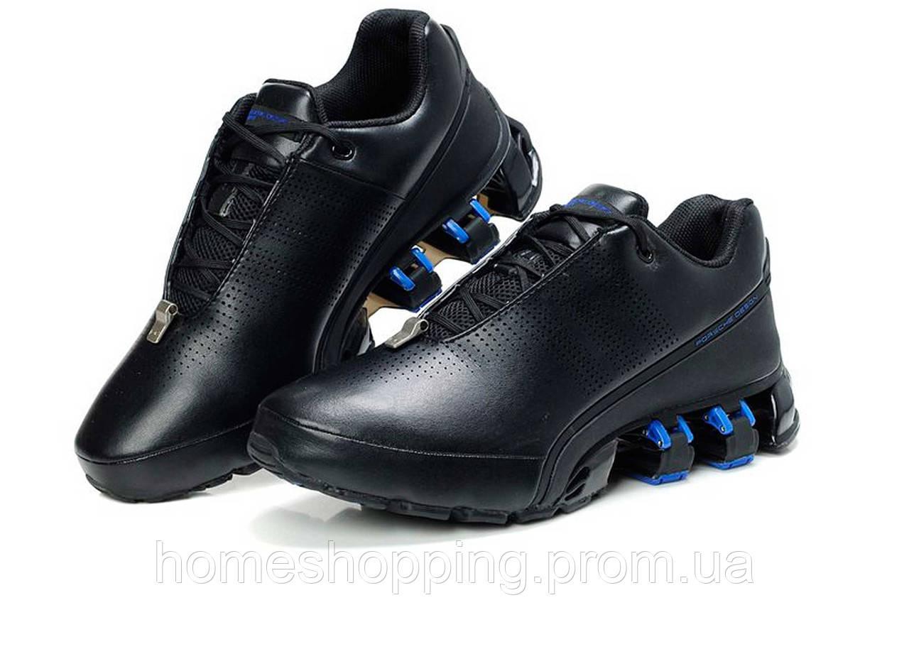 Кроссовки мужские Adidas Porsche Design P5000 Bounce S2 Leather Black Blue