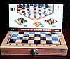 Игра 3 в 1 Шахматы Шашки Нарды Дерево 20 х 40 см, фото 7