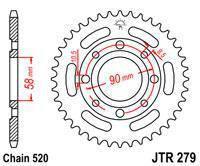 Мотозвезда JT задняя под цепь 520 на 35 зубьев  JTR279.32 GEON Daytona/GEON Nac HONDA VT / NV, фото 2