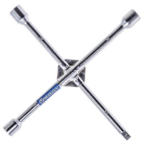 """Ключ балонный крестовой усиленный для монтажа/демонтажа колесных болтов и гаек.17x19x21x1/2"""" СТАНДАРТ KBK2"""