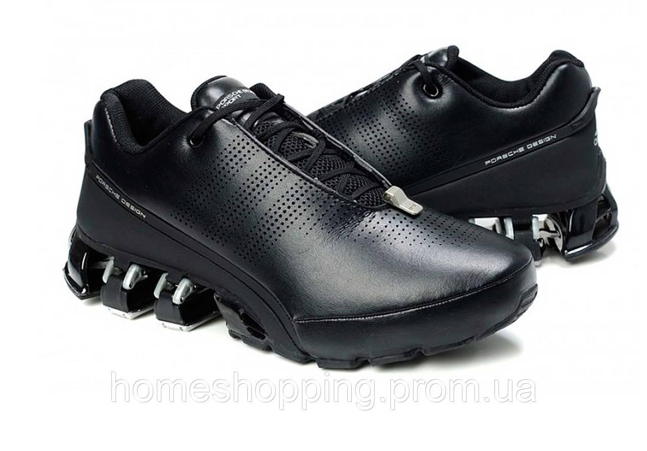Кроссовки мужские Adidas Porsche Design P5000 Bounce S2 Leather Black Silver