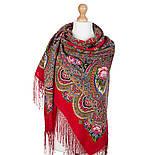 Русское раздолье 1619-5, павлопосадский платок шерстяной (двуниточная шерсть) с шелковой бахромой, фото 2