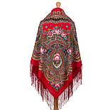 Русское раздолье 1619-5, павлопосадский платок шерстяной (двуниточная шерсть) с шелковой бахромой, фото 3