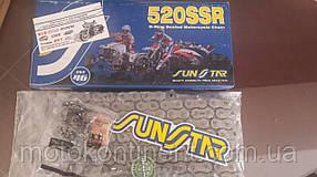 Мото цепь  520 Sunstar  520SSR стальная сальник O-RING на 108 звеньев (SS520SSR-108N) Япония
