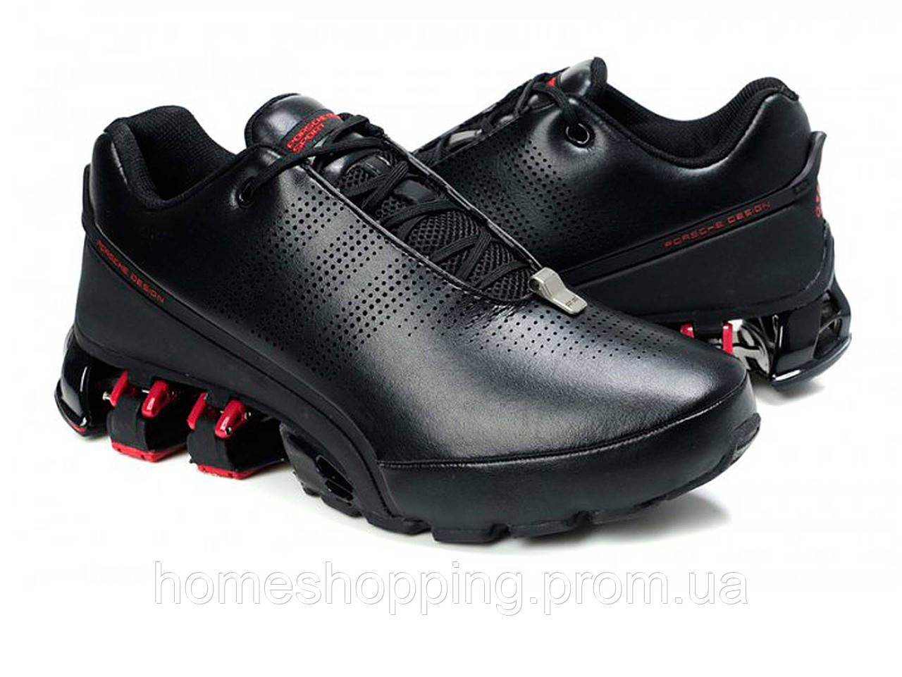Кроссовки мужские Adidas Porsche Design P5000 Bounce S2 Leather Black Red