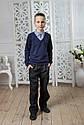 Детский школьный джемпер обманка на мальчика Размеры 122- 152, фото 2
