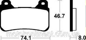 Тормозные колодки SBS 809HS для HONDA CBR 1000 RR/HONDA VFR 800/CBR 600 RR (FDB2181/BR 899/MCB755), фото 2