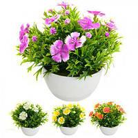 Искусственные цветы в горшке 6*6см