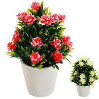 Искусственные цветы в горшке 7.5*5см, 2 цвета
