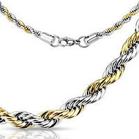 Цепочка из ювелирной стали цвета серебра и золота