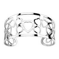 Женский браслет из стали Cuff-браслет с сердцами