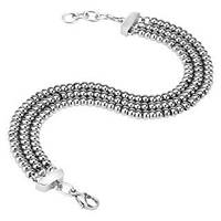 Женский браслет  серебристый с шариками из стали