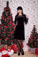 Платье из велюра с кружевом Elite 42-44р