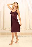 Сорочка ночная Violet Delux НС-М-83 сливовое вино S