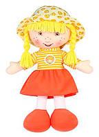 Мягконабивная кукла Апельсинка, 36 см, желтая, Devilon