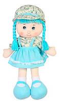 Мягконабивная кукла с косичками (голубая), 51 см, Devilon
