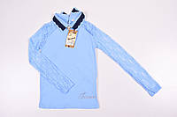 Блузка с длинным рукавом для девочки трикотажная (цв.голубой) BENINI Роста в наличии : 140,176 арт.145