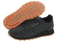 Кроссовки/Кеды (Оригинал) Reebok Lifestyle Classic Leather Black/Gum, фото 1