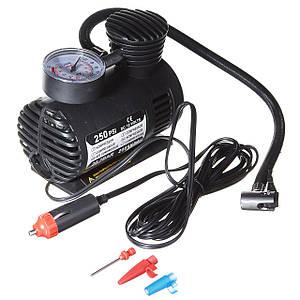 Автомобильный насос компрессор Air Compressor DC-12V / 250 PSI /  автокомпрессор компрессор автомобильный