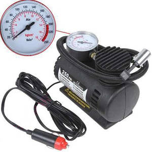 Автомобильный насос компрессор Air Compressor DC-12V / 250 PSI /  автокомпрессор автомобильный компрессор подкачки