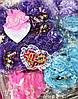 Мягкий Магнитик Сердечко Подарок ко Дню Святого Валентина 50 шт в Упаковке, фото 5