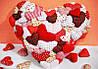 Мягкий Магнитик Сердечко Подарок ко Дню Святого Валентина 50 шт в Упаковке, фото 6