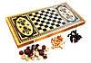 Набор 2 в 1 Нарды Шахматы из Бамбука 20 х 40 см, фото 5