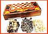 Набор 3 в 1 Шахматы Шашки Нарды W 5001 E, фото 6