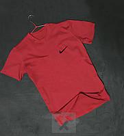 Стильная красная футболка Найк Nike бархатный принт (РЕПЛИКА) 3672b5d9a62e3