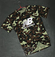 Камуфляжна футболка New Balance Нью Баланс оксамитовий принт (РЕПЛІКА)
