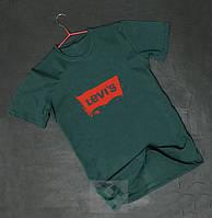 Levis Левайс футболка зеленая бархатный принт (РЕПЛИКА)