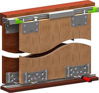 Раздвижная система для шкафов купе 80 АУ комплект на две двери