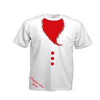 Новогодняя футболка с бородой