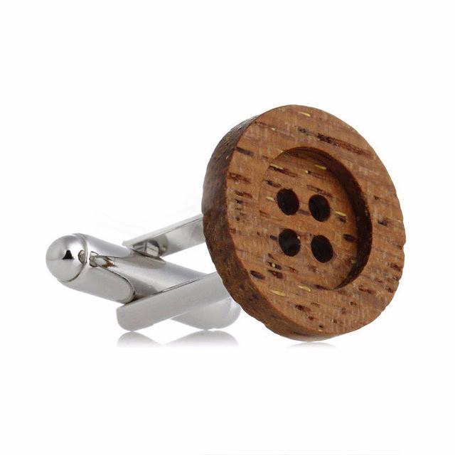 Запонки пуговица деревянная для модельеров, дизайнеров, швей