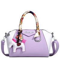 Стильная качественная сумка BINNITU с платком и брелком 4 цвета, фото 1