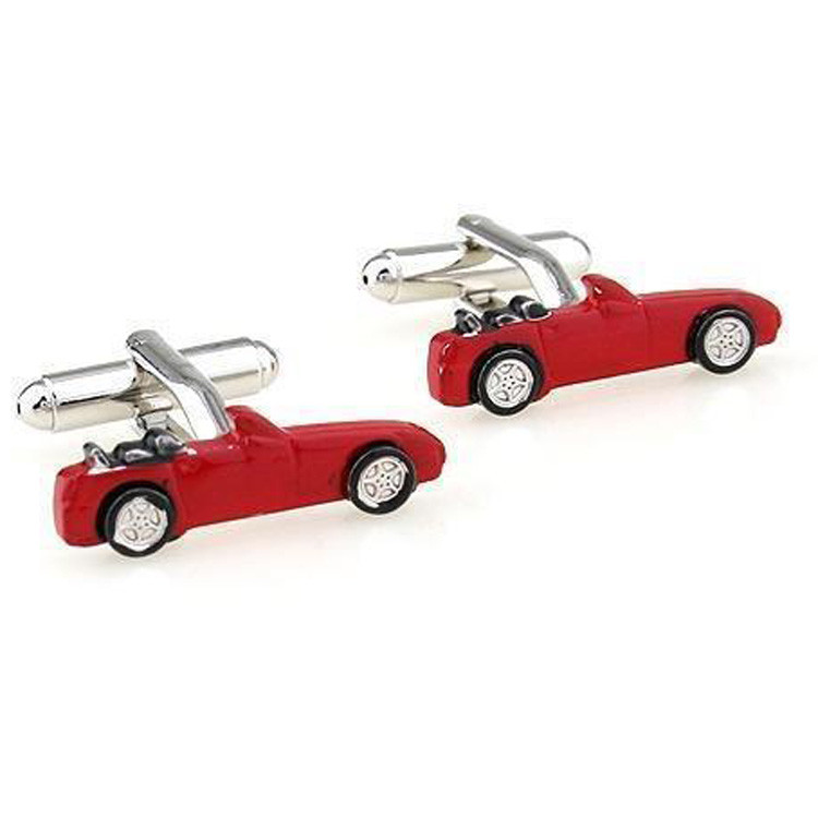 Запонки Машина, Машинка, Красная машина - для владельцев авто - Эту машину Вы себе можете позволить!