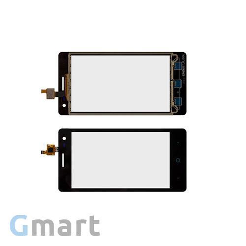 Тачскрин ZTE Blade GF3 черный (сенсорный экран, стекло в сборе)