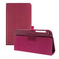 Розовый чехол для Asus Fone Pad 8 FE380CG из синтетической кожи.