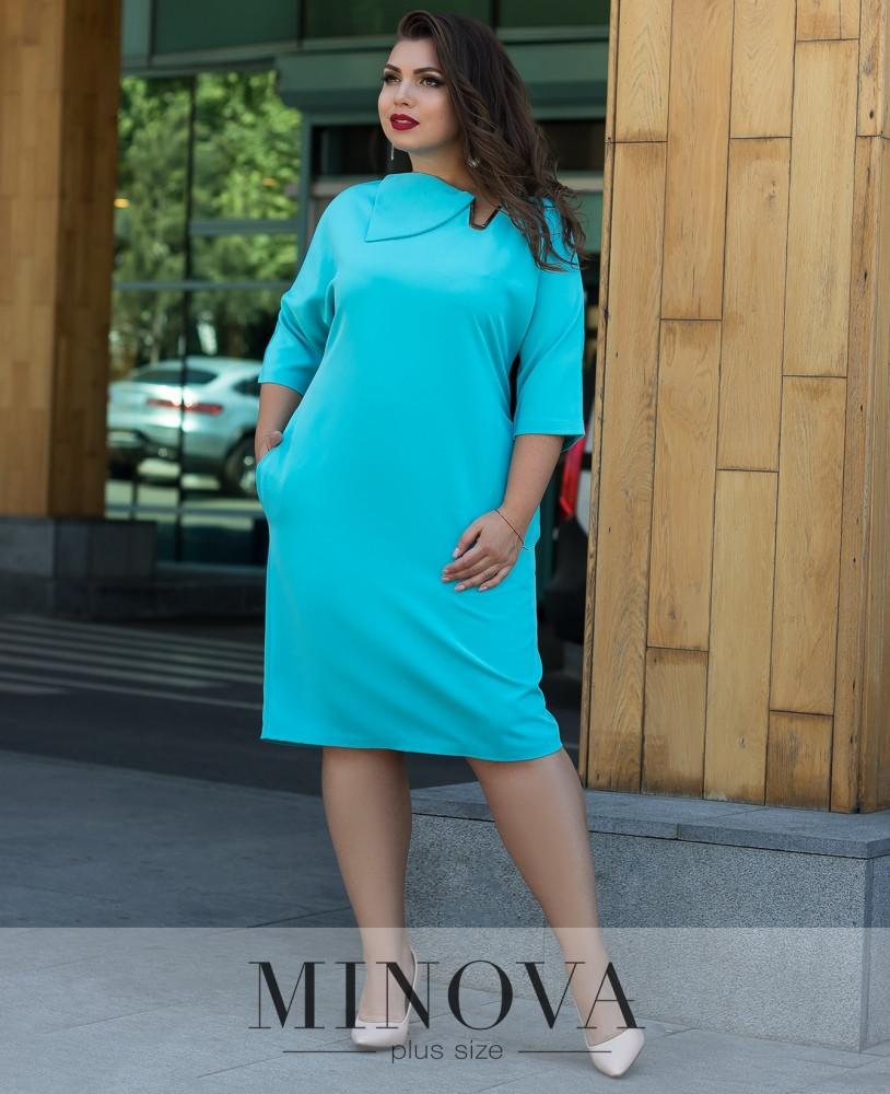 Лаконичное платье прямого кроя 50-60