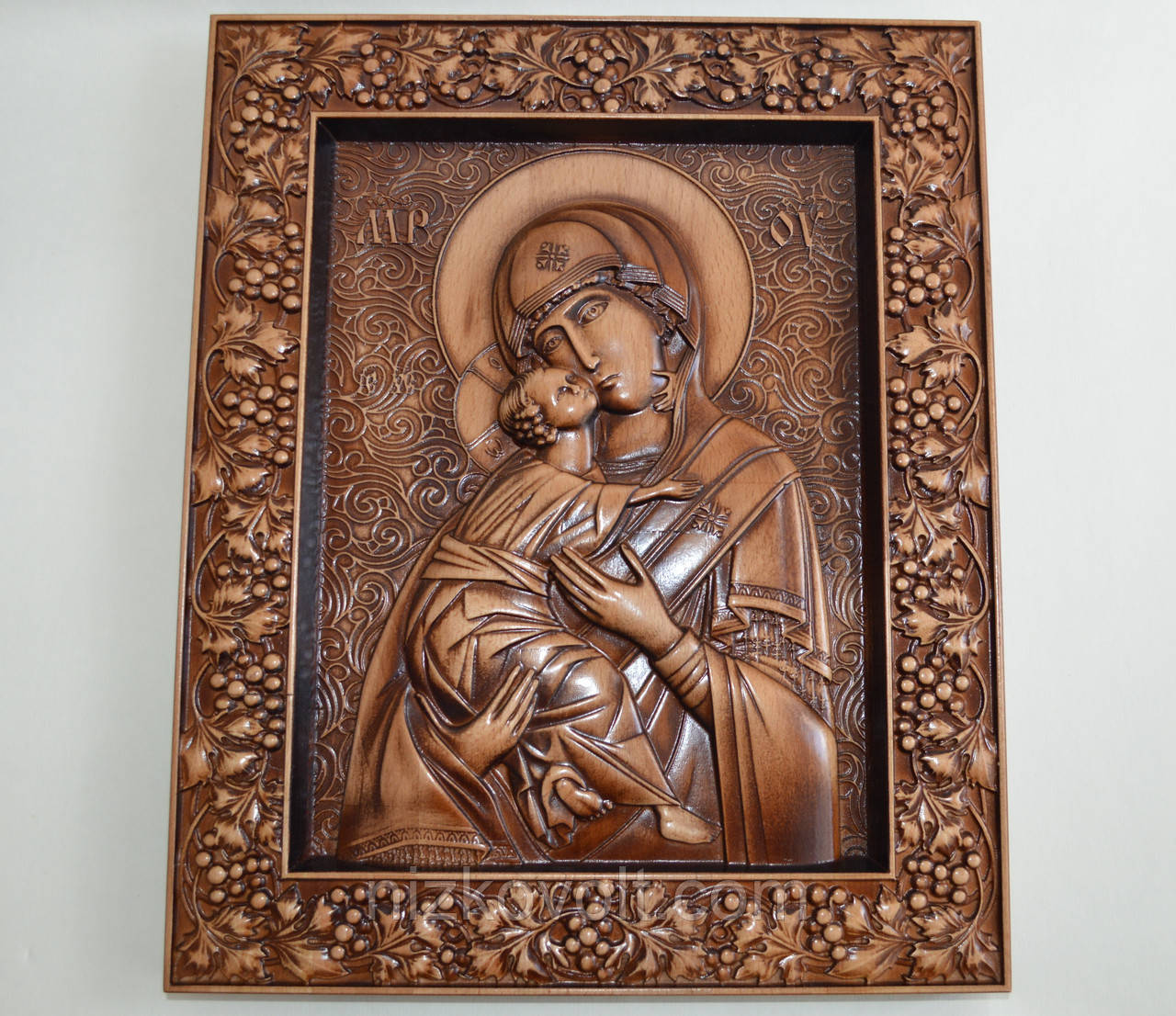 Икона Божией Матери Владимирская (300Х360х25 мм)