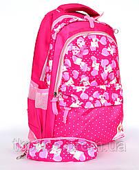 Качественный школьный рюкзак для девочки с пеналом 8339