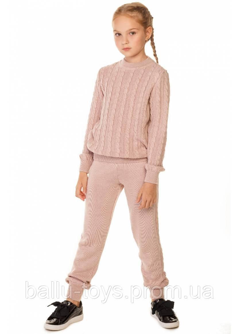 Вязаный костюм на девочек Энжи (7-12 лет)