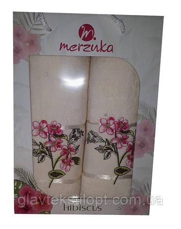 Подарочный набор полотенец Merzuka Турция (2 шт), фото 2