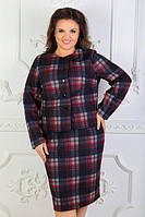 Деловой женский костюм батал (К23750), фото 1