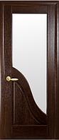 Двери Амата со стеклом сатин Каштан