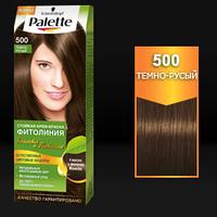 Стойкая краска для волос Palette Фитолиния 500 Темно-русый
