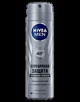 "Мужской дезодорант-антиперспирант Nivea ""Серебряная защита"" спрей 150 мл"