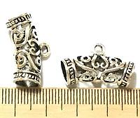 Бейл, Держатель для кулона, Античное серебро, Цинковый сплав, 25 mm x 14 mm, фото 1