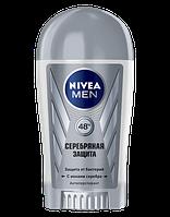 """Твердый мужской дезодорант-антиперспирант Nivea """"Серебряная защита"""" 40 мл"""