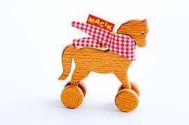 "Деревянная каталка ""Лошадка"" MWood ТМ Macik"